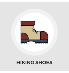 Hiking shoes flat icon vector