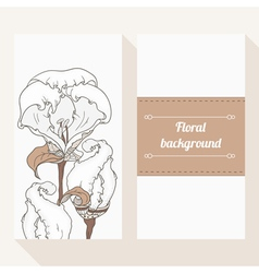 Invitation cards with flowers vector image