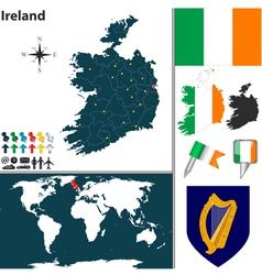Ireland map vector image