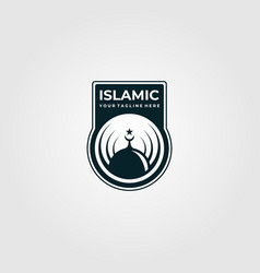 Islamic logo emblem design vector