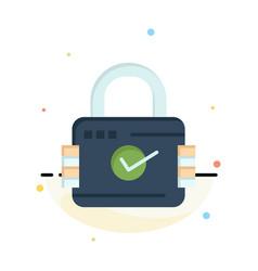 Lock padlock security secure business logo vector