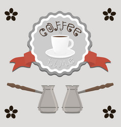 Logo for white ceramic cup of hot vector
