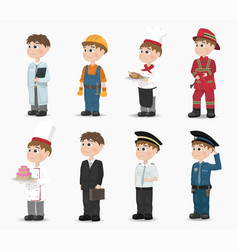 man different professions fireman vector image