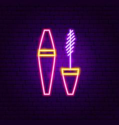 mascara neon sign vector image