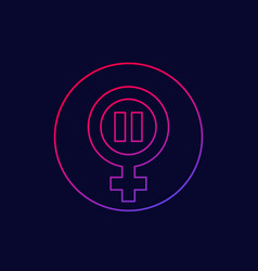 menopause icon climacteric line vector image