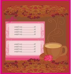 menu coffee shop vector image