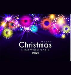 merry christmas and happy new 2021 yeardeisgn vector image