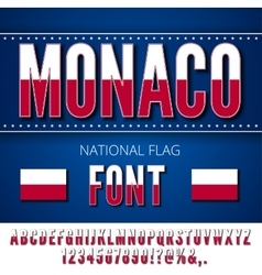 Monaco Flag Font vector