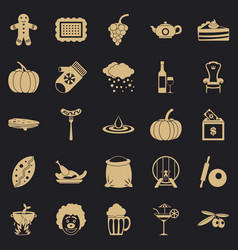 Munificence icons set simple style vector