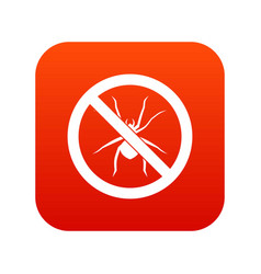 no spider sign icon digital red vector image