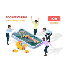 online casino winners lucky happy people playing vector image