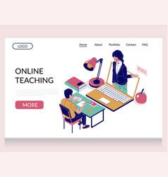 online teaching website landing page vector image