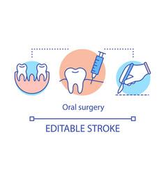 Oral surgery concept icon vector