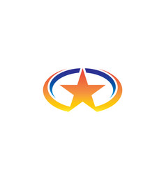 oval star business logo vector image