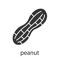 Peanut glyph icon vector