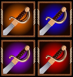 pirate sword vector image