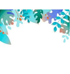 plants and fanrasy leaves - background for banners vector image