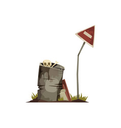 Post apocalypse cartoon icon vector