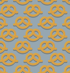 Pretzel seamless pattern Beer snack background vector image vector image