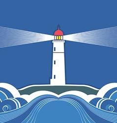 Sea lighthouse symbol vector