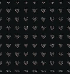 seamless heart pattern on dark hand drawn design vector image