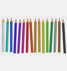 set of color pencil vector image