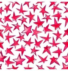 Shining pink stars seamless pattern background vector image