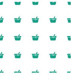 Shopping bag icon pattern seamless white vector