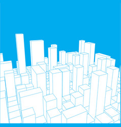 skyline city abstract town industrial landscape vector image