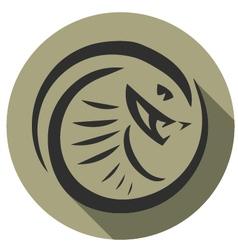 Snake emblem vector
