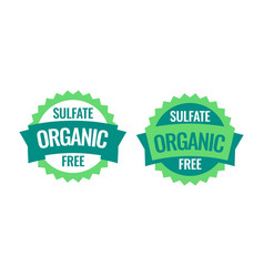 sulfate free sign or stamp symbol vector image