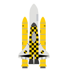 Taxi service in space taxi-shuttle icon in flat vector