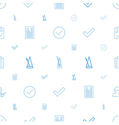 tick icons pattern seamless white background vector image