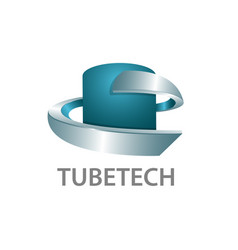 tube technology logo concept design 3d three vector image