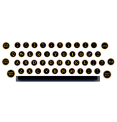 typewriter key layout vector image