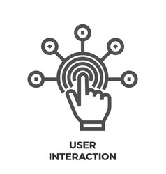 User interaction line icon vector