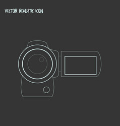 video camera icon line element vector image