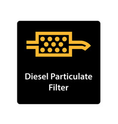 Warning dashboard car icon diesel particulate vector