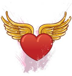 heart with wings illustration vector image vector image