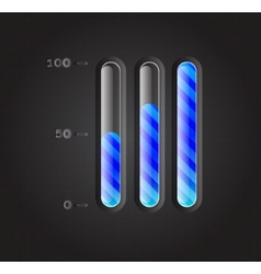 Loading bars for web design for your business vector image vector image