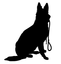 Shepherd with leash vector