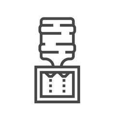 water cooler line icon vector image