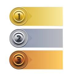 progress background gold silver bronze ban vector image vector image