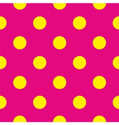 Tile yellow polka dots on pink background vector image vector image