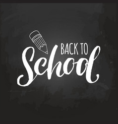 vintage welcome back to school logo retro vector image vector image