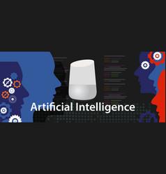 ai artificial intelligence smart home digital vector image
