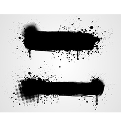 grunge two black banners vector image vector image