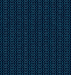 Knitted blue background vector image