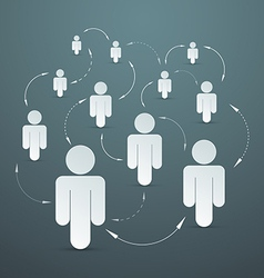 Paper People - Social Media Connection vector image vector image