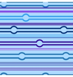 Striped and circle blue seamless pattern vector image vector image